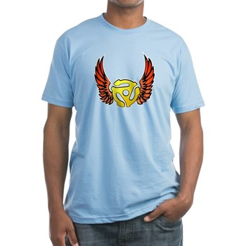 Red Winged 45 RPM Adapter Fitted T-Shirt