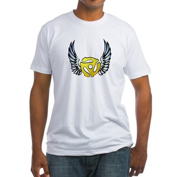 Blue Winged 45 RPM Adapter Fitted T-Shirt