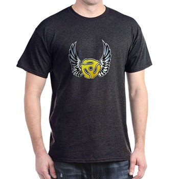 Blue Winged 45 RPM Adapter Dark T-Shirt