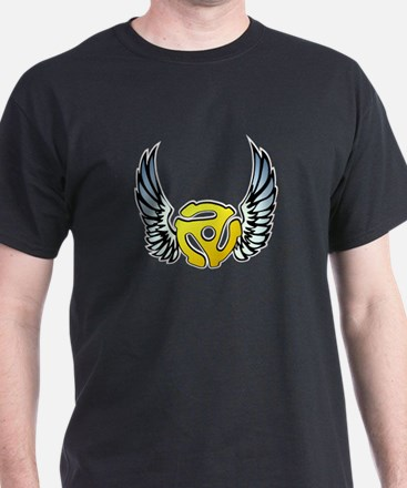 Blue Winged 45 RPM Adapter T-Shirt