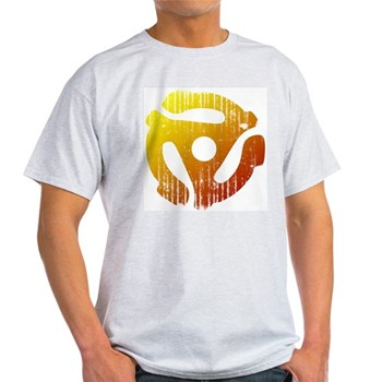 Distressed 45 RPM Adapter Light T-Shirt