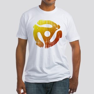 Distressed 45 RPM Adapter Fitted T-Shirt
