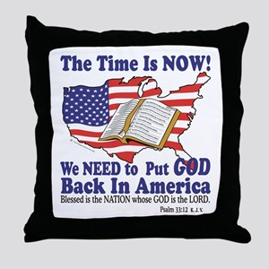 Put God Back in America Throw Pillow