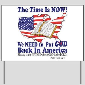 Put God Back in America Yard Sign