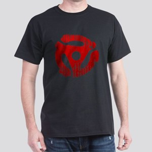 Distressed Red 45 RPM Adapter Dark T-Shirt