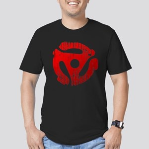 Distressed Red 45 RPM Adap Men's Fitted T-Shirt (d