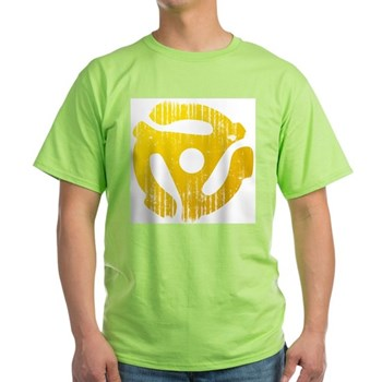 Distressed Yellow 45 RPM Adapter Light T-Shirt