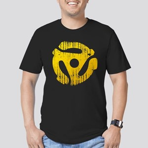 Distressed Yellow 45 RPM Adap Men's Fitted T-Shirt