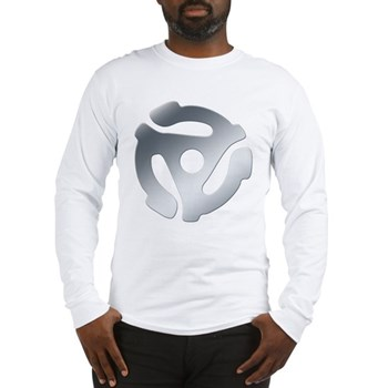 Silver 45 RPM Adapter Long Sleeve T-Shirt
