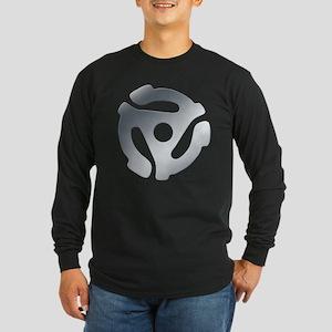 Silver 45 RPM Adapter Long Sleeve Dark T-Shirt