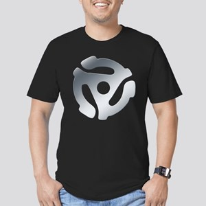 Silver 45 RPM Adapter Men's Fitted T-Shirt (dark)