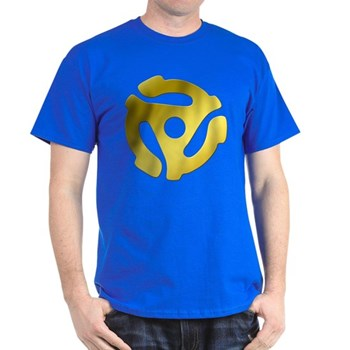 Gold 45 RPM Adapter Dark T-Shirt