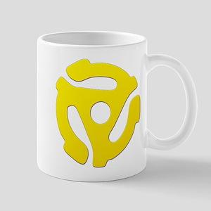 Yellow 45 RPM Adapter Mug