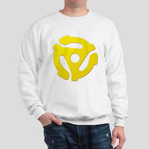 Yellow 45 RPM Adapter Sweatshirt