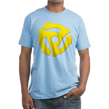 Yellow 45 RPM Adapter Fitted T-Shirt