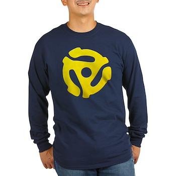 Yellow 45 RPM Adapter Long Sleeve Dark T-Shirt