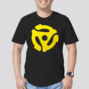 Yellow 45 RPM Adapter Men's Fitted T-Shirt (dark)