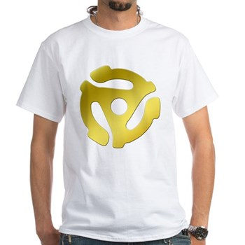 Gold 45 RPM Adapter White T-Shirt