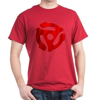 Red 45 RPM Adapter Dark T-Shirt