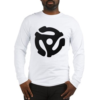 Black 45 RPM Adapter Long Sleeve T-Shirt
