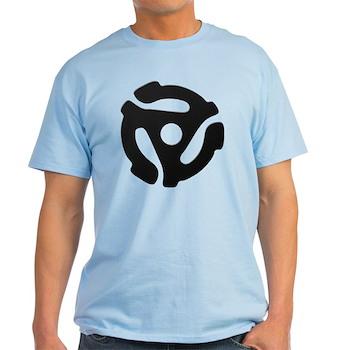 Black 45 RPM Adapter Light T-Shirt