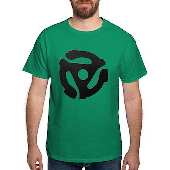 Black 45 RPM Adapter Dark T-Shirt