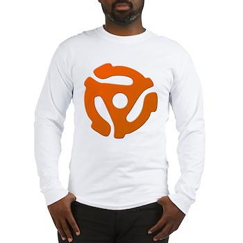 Orange 45 RPM Adapter Long Sleeve T-Shirt