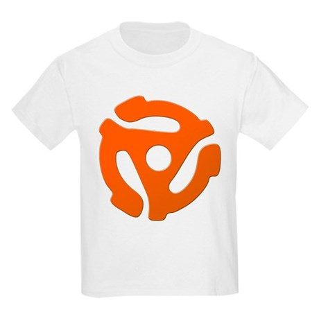 Orange 45 RPM Adapter Kids Light T-Shirt
