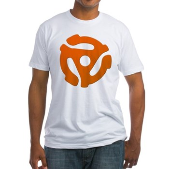 Orange 45 RPM Adapter Fitted T-Shirt