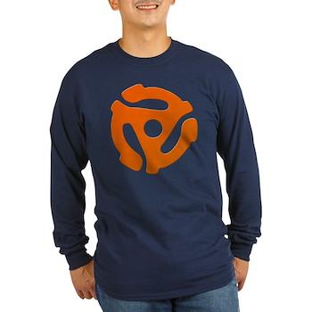 Orange 45 RPM Adapter Long Sleeve Dark T-Shirt