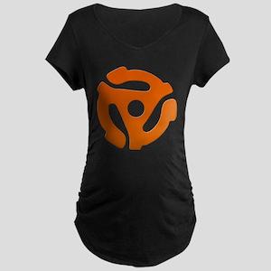 Orange 45 RPM Adapter Maternity Dark T-Shirt