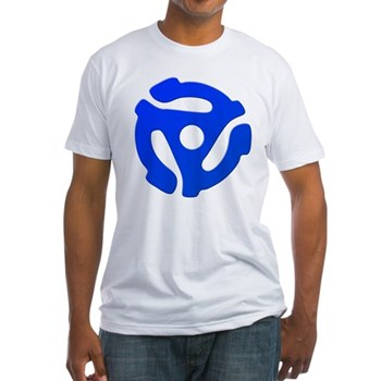 Blue 45 RPM Adapter Fitted T-Shirt