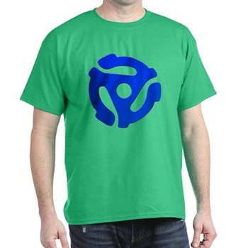 Blue 45 RPM Adapter Dark T-Shirt