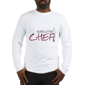 Red Executive Chef Long Sleeve T-Shirt
