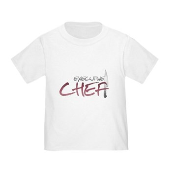 Red Executive Chef Toddler T-Shirt