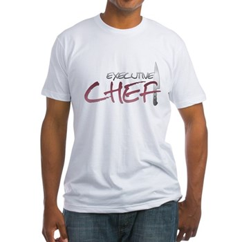Red Executive Chef Fitted T-Shirt