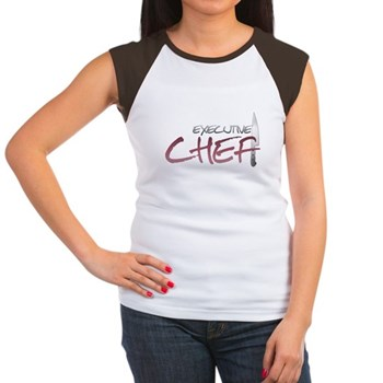 Red Executive Chef Women's Cap Sleeve T-Shirt