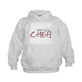 Red Executive Chef Kids Hoodie