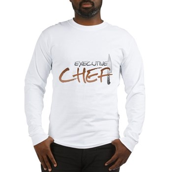 Orange Executive Chef Long Sleeve T-Shirt