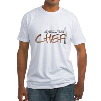 Orange Executive Chef Fitted T-Shirt