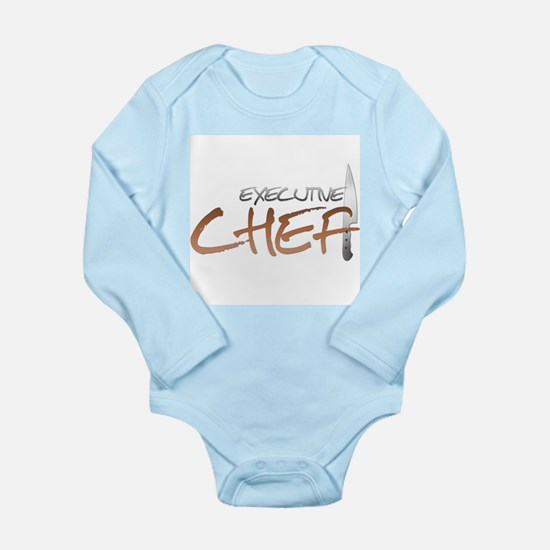 Orange Executive Chef Long Sleeve Infant Bodysuit