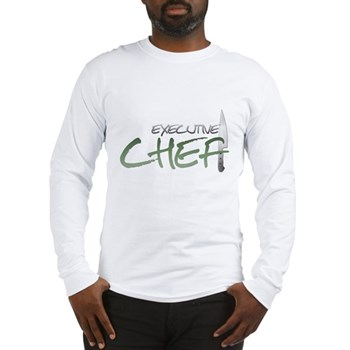 Green Executive Chef Long Sleeve T-Shirt