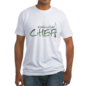 Green Executive Chef Fitted T-Shirt