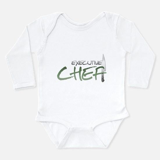 Green Executive Chef Long Sleeve Infant Bodysuit