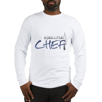 Blue Executive Chef Long Sleeve T-Shirt