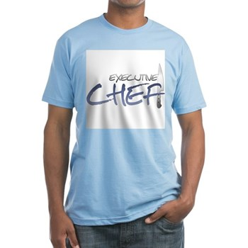Blue Executive Chef Fitted T-Shirt