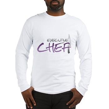 Purple Executive Chef Long Sleeve T-Shirt