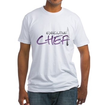 Purple Executive Chef Fitted T-Shirt