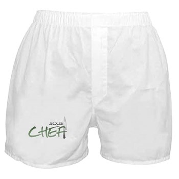 Green Sous Chef Boxer Shorts