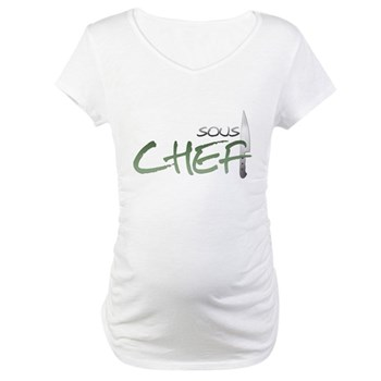Green Sous Chef Maternity T-Shirt